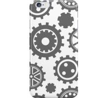 Gears Pattern - SILVER iPhone Case/Skin