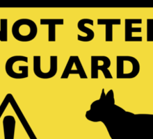Humorous Boston Terrier Guard Dog Warning Sticker