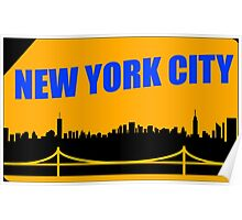 New York City Skyline Subway Card Poster