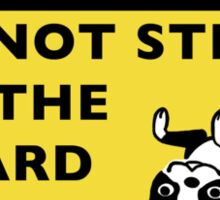 Funny Boston Terrier Guard Dog Warning Sticker