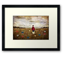 Waiting For The Rain Framed Print