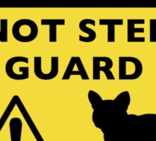 Humorous French Bulldog Guard Dog Warning Sticker