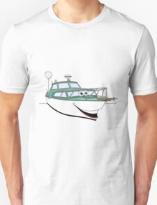 Green Motor Boat II Cartoon T-Shirt