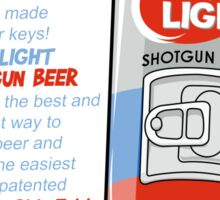 Shotgun Beer Sticker