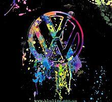 Volkswagen Emblem Splatter by BlulimeMerch