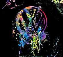 Volkswagen Emblem Splatter © by BlulimeMerch