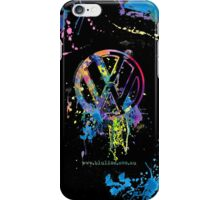Volkswagen Emblem Splatter © iPhone Case/Skin