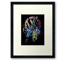 Volkswagen Emblem Splatter © Framed Print
