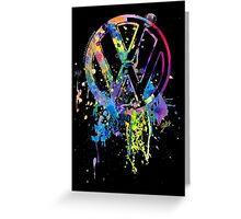 Volkswagen Emblem Splatter © Greeting Card