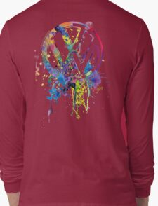 Volkswagen Emblem Splatter © Long Sleeve T-Shirt