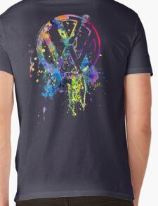 Volkswagen Emblem Splatter © Mens V-Neck T-Shirt