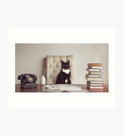 Corporate Cat Art Print