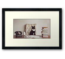 Corporate Cat Framed Print