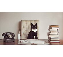 Corporate Cat Photographic Print