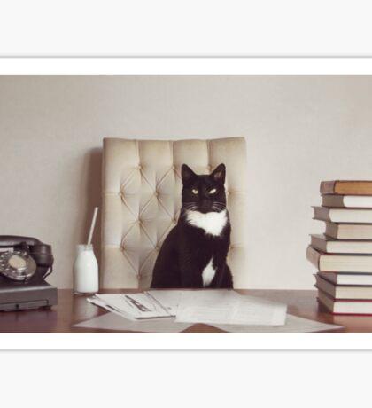 Corporate Cat Sticker