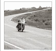 """""""Harley-Davidson, On The Road at Hawk Springs, Wyoming"""" by Don Bailey"""