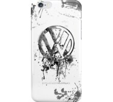 Vee Dub Emblem Splatter BW © iPhone Case/Skin
