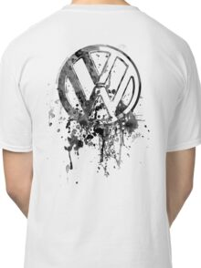 Vee Dub Emblem Splatter BW © Classic T-Shirt
