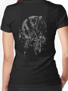 Vee Dub Emblem Splatter BW © Women's Fitted V-Neck T-Shirt
