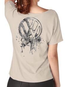 Volkswagen Emblem Splatter BW © Women's Relaxed Fit T-Shirt