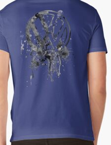 Volkswagen Emblem Splatter BW © Mens V-Neck T-Shirt