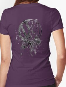 Vee Dub Emblem Splatter BW © Womens Fitted T-Shirt