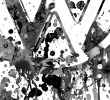 Volkswagen Emblem Splatter BW Sticker