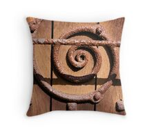 Rusty Swirl Throw Pillow