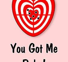 You Got me Babe Card by jean-louis bouzou