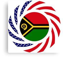 Ni-Vanuatu American Multinational Patriot Flag Series Canvas Print