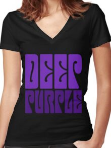 DEEP PURPLE Women's Fitted V-Neck T-Shirt