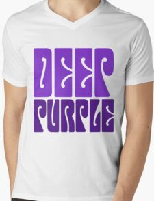 DEEP PURPLE Mens V-Neck T-Shirt