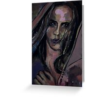 the hooded lady Greeting Card