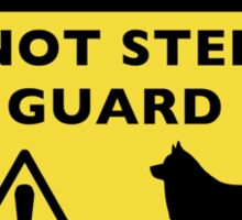 Humorous Schipperke Guard Dog Warning Sticker