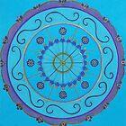 Blue Mandala by Pam Wilkie