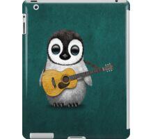 Musical Baby Penguin Playing Guitar Teal Blue iPad Case/Skin