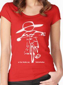 a tu bola en bicicleta Women's Fitted Scoop T-Shirt