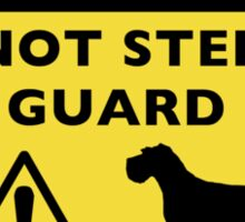Humorous Schnauzer Guard Dog Warning Sticker