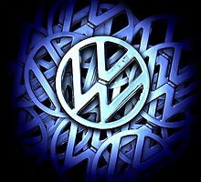 Shiny Volkswagen Badge © by BlulimeMerch