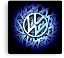 Shiny Volkswagen Badge Canvas Print