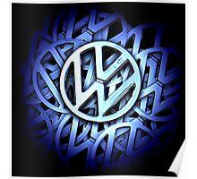 Shiny Volkswagen Badge Poster