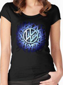 Shiny Volkswagen Badge © Women's Fitted Scoop T-Shirt