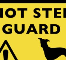 Humorous Whippet Guard Dog Silhouette Sticker