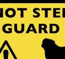 Humorous Pug Guard Dog Warning Sticker