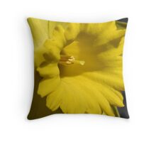 Macro Daffodil Throw Pillow