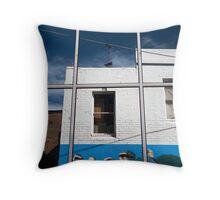 Reflected urban life Throw Pillow