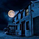 Pub by Night. by darkvampire