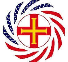 Guernsey American Multinational Patriot Flag Series Photographic Print