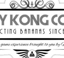Donkey Kong Country - Art Deco Black Sticker
