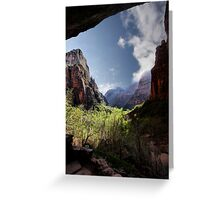 Exploring Zion Greeting Card